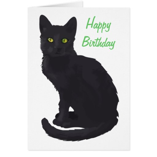 regal black cat birthday zazzle. Black Bedroom Furniture Sets. Home Design Ideas