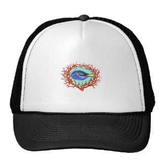 REGAL BLUE TANG CORAL TRUCKER HAT