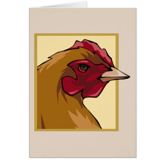Regal Chicken Greeting Card