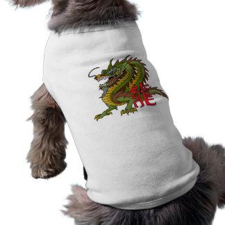 Regal Chinese Dragon Sleeveless Dog Shirt
