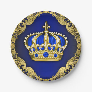 Regal Crown Royal Baby Shower Paper Plate
