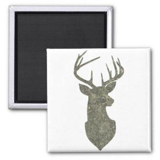 Regal Deer Silhouette Buck Trophy in Camouflage Magnet