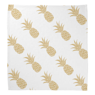 Regal Gold Pineapple Bandana