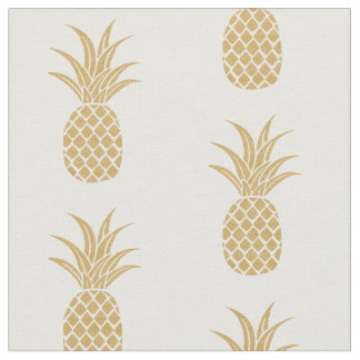 Regal Gold Pineapple Fabric