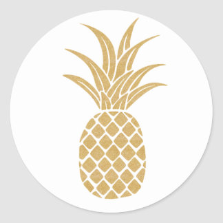 Regal Gold Pineapple Sticker