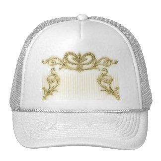 Regal gold stripe design cap