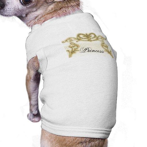 Regal gold stripe design doggie t shirt