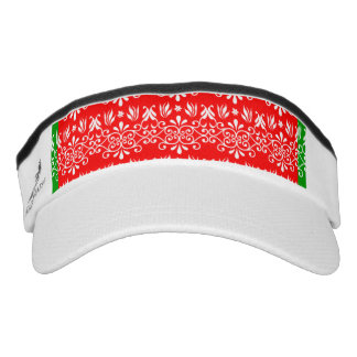 Regal Layered Green & Red Visor