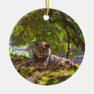 REGAL LION CHRISTMAS ORNAMENT