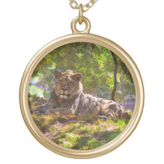 REGAL LION GOLD PLATED NECKLACE