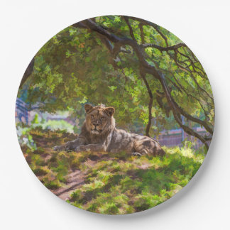 REGAL LION PAPER PLATE