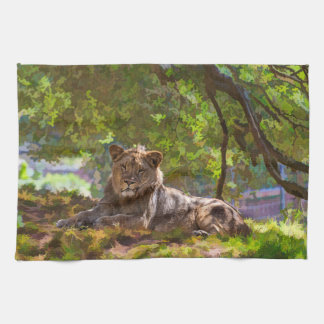 REGAL LION TEA TOWEL