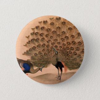Regal Peacocks 6 Cm Round Badge