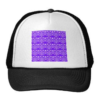 Regal Purple Floral Pattern Cap