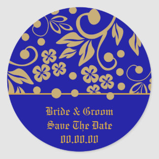 Regal Save The Date Wedding Stickers