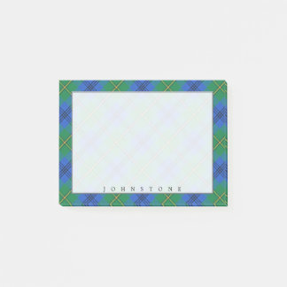 Regal Scottish Clan Johnstone Johnston Tartan Post-it Notes