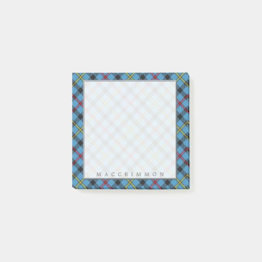 Regal Scottish Clan MacCrimmon Tartan Post-it Notes