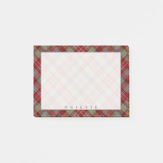 Regal Scottish Clan Ogilvie Ogilvy Tartan Post-it Notes