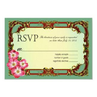 Regal Victorian Floral Favor   mint green 9 Cm X 13 Cm Invitation Card