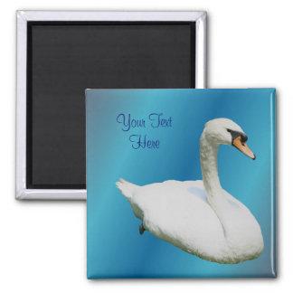 Regal White Swan Animal Magnet