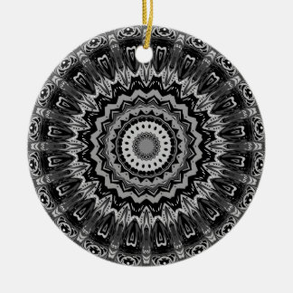 Regalia Black and White Kaleidoscope Ornaments