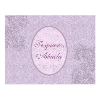 Regalo elegante para abuela tarjeta postal