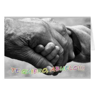 Regalo para abuelo Te quiero abuelo Felicitacion