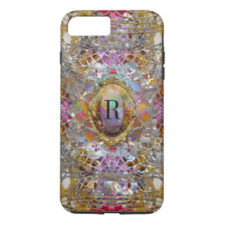 Regardez dans kaléidoscope Elegant Girly Monogram iPhone 7 Plus Case