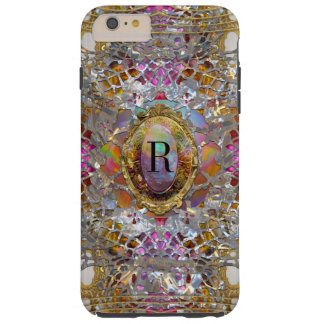 Regardez dans kaléidoscope Elegant Girly Monogram Tough iPhone 6 Plus Case