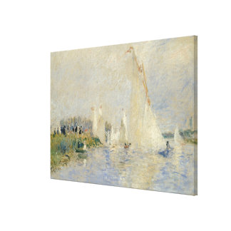 Regatta at Argenteuil 1874 oil on canv Canvas Prints