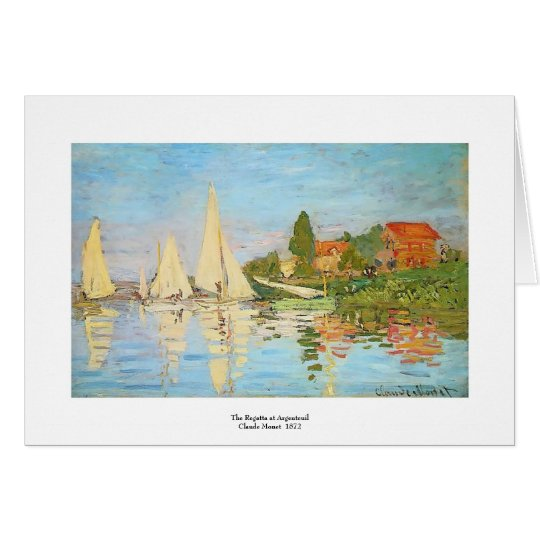 Regatta at Argenteuil by Claude Monet Card