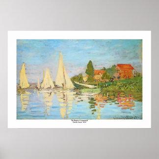 Regatta at Argenteuil by Claude Monet Print