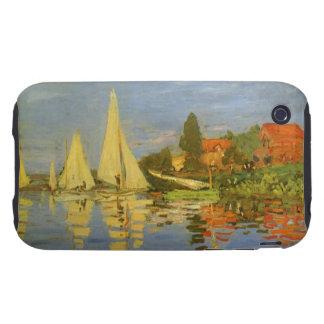 Regatta at Argenteuil by Claude Monet, Vintage Art iPhone 3 Tough Cases