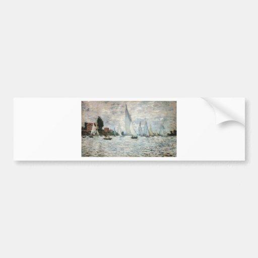 Regatta at Argenteuil, Claude Monet Bumper Sticker