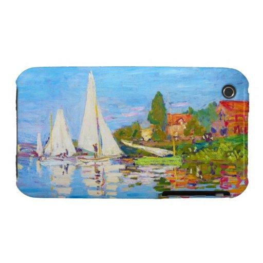 Regatta at Argenteuil Claude Monet Case-Mate iPhone 3 Cases