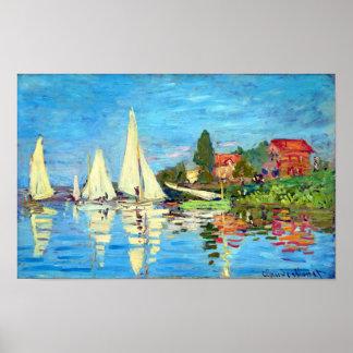 Regatta At Argenteuil, Claude Monet Poster