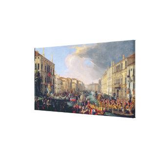 Regatta Held in Honour of Frederick VI of Denmark Canvas Print