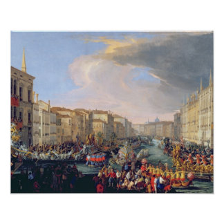 Regatta Held in Honour of Frederick VI of Denmark Poster
