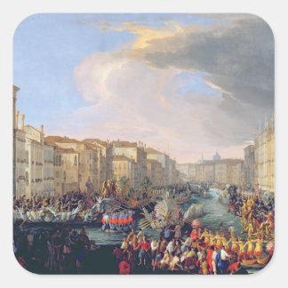 Regatta Held in Honour of Frederick VI of Denmark Square Sticker