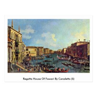 Regatta House Of Foscari By Canaletto (Ii) Postcard
