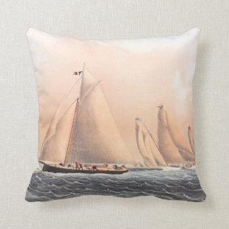 Regatta Sailboat Race Yachts NY Club 1854 Pillow