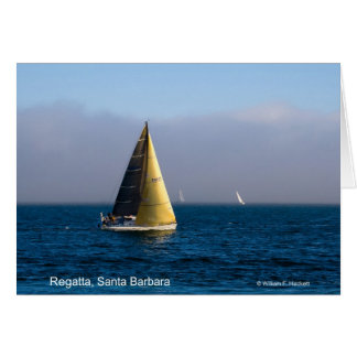 Regatta, Santa Barbara California Products Greeting Card