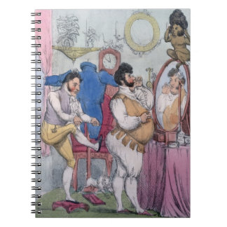 Regency a la Mode, 1812 (coloured etching) Spiral Note Book