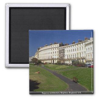 Regency architecture, Brighton, England, U.K. Square Magnet