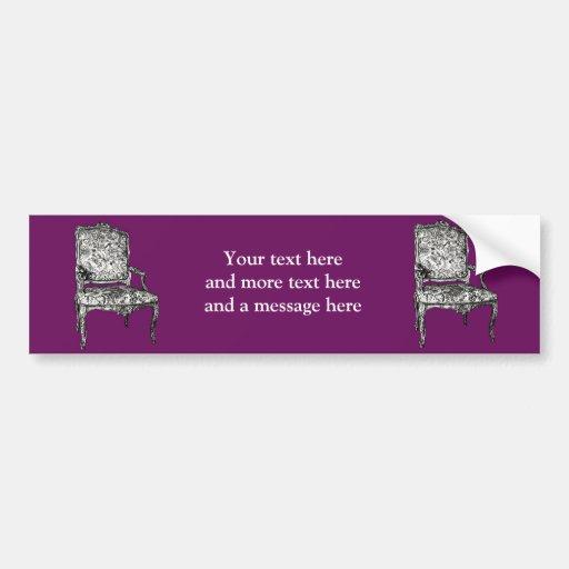 Regency chair in purple bumper stickers