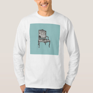 Regency chair in turquoise t-shirt