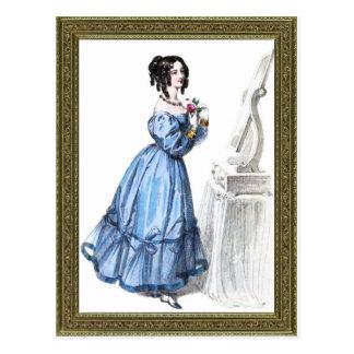 Regency Dinner Dress Postcard