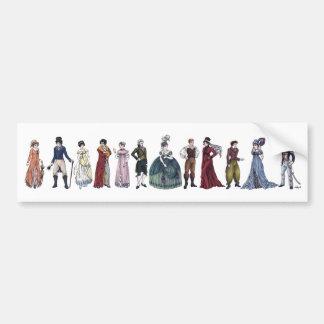 Regency Fashion Jane Austen Bumper Sticker