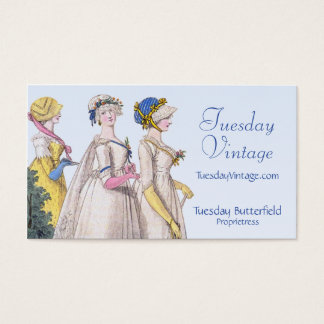 Regency Fashion Plate Custom Business Cards