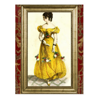 Regency Fashion - Yellow Postcard